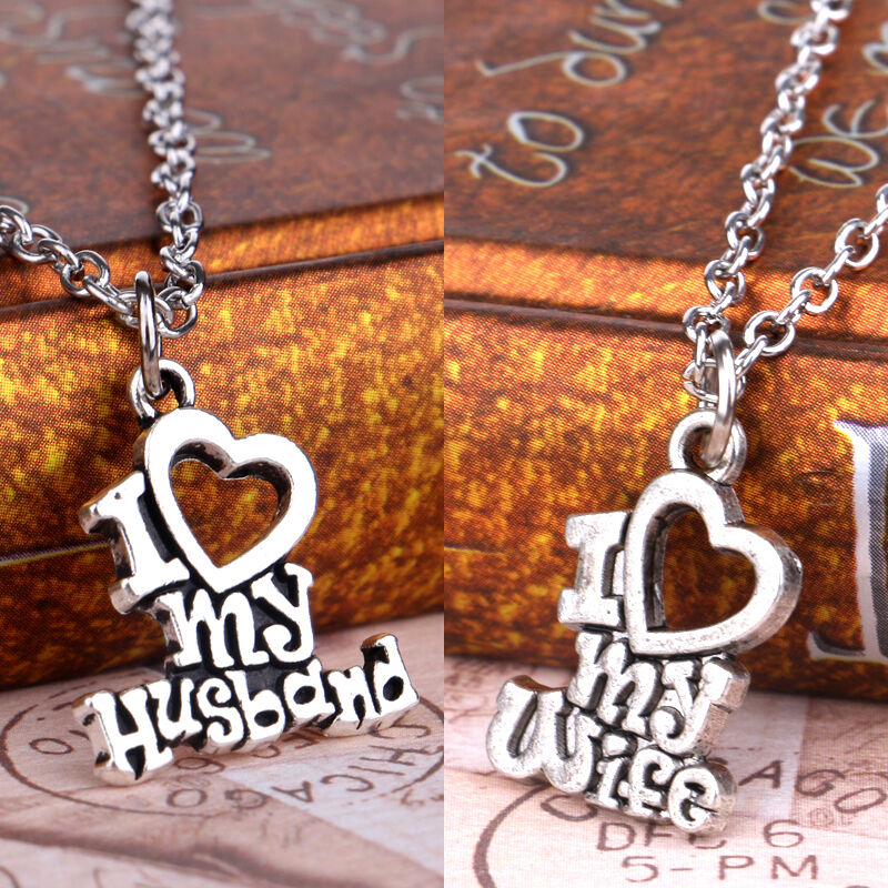 De S About Fashion My Husband I Love Wife Family Heart Words Pendant Necklace Gifts Hot