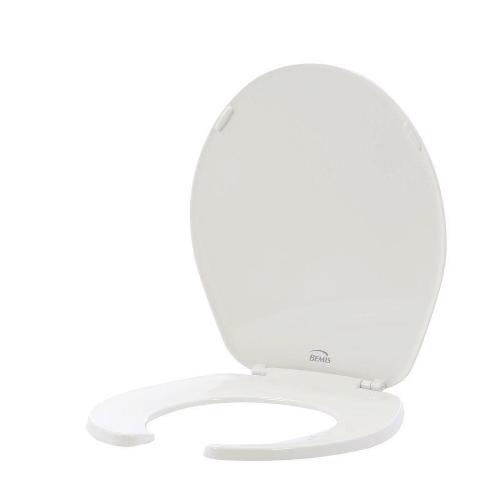 Bemis Round Open Front Toilet Seat In White Fits All Round