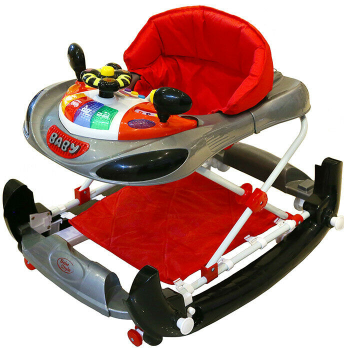 Bebe Style Deluxe 2 In 1 F1 Racing Car Baby Walker Rocker