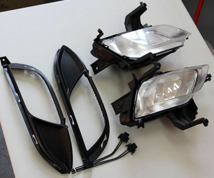 Fog Light Lamp  Cover  Ext Wire 6ea 1set For Kia Forte K3 Cerato 2014 2016