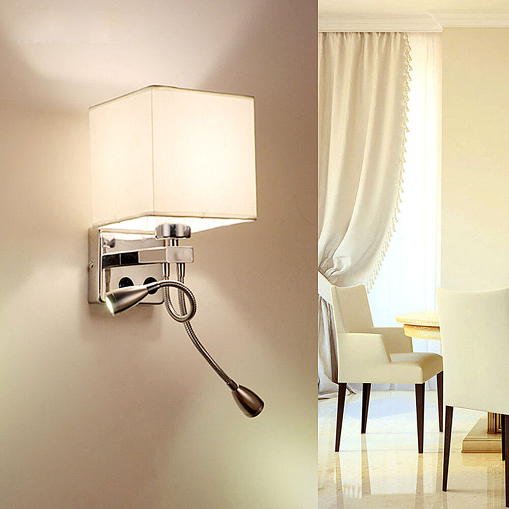 Wall sconce adjustable led wall lamp hall porch bedroom for Wall light with reading light