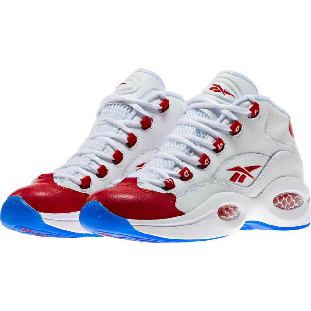 Red And White Allen Iverson Shoes