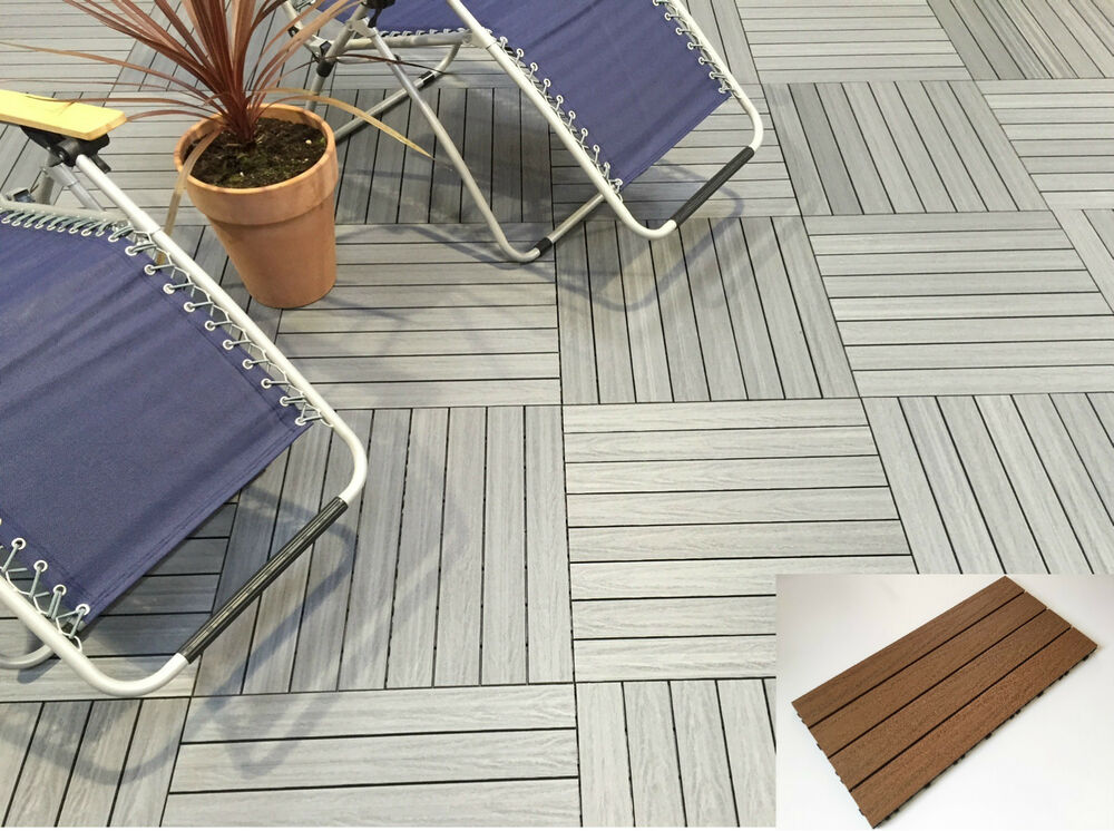 Wood Composite Decking Tiles No Staining Easy Lay