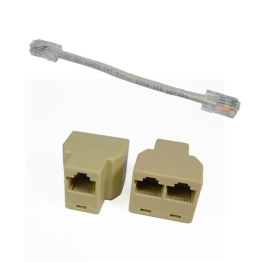 Network Cable Splitter : Rj f to ethernet connector splitter adapter inch