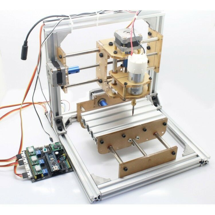 DIY CNC Engraver Machine PCB Milling Plastic Wood Carving Printer GRBL ...