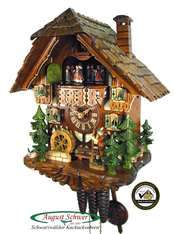 Black Forest Cuckoo Clock The Wanderer Music 13 New Ebay