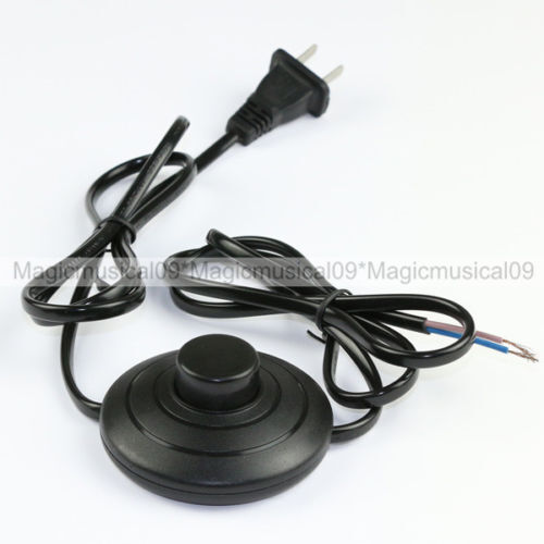Inline Push Button : In line foot push lamp power cord with switch m us
