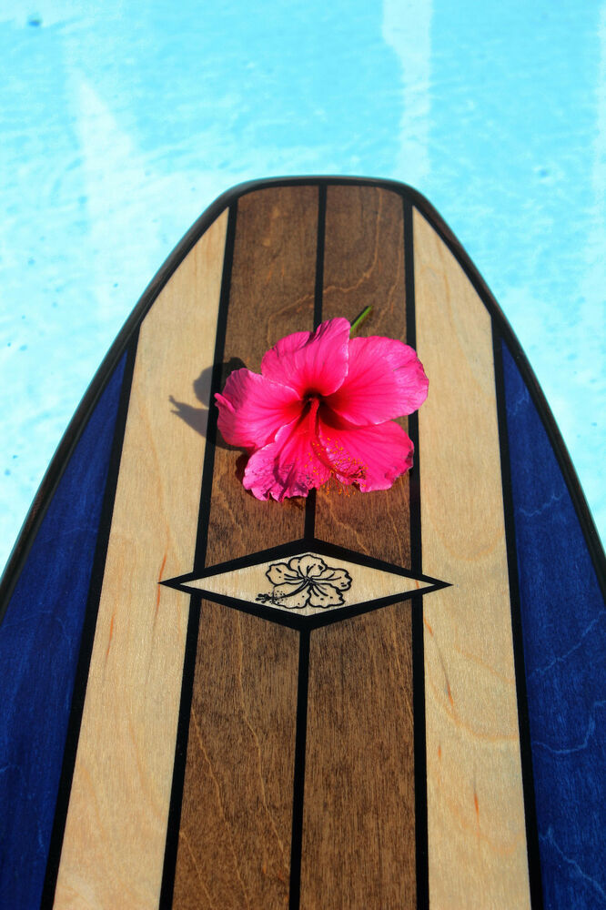 Wood surfboard bar top wall decor choose your design and for Surfboard bar top