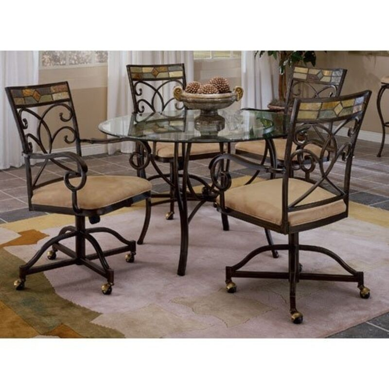 Slate Dining Room Table: Hillsdale Furniture 4442-810 Pompeii Metal Dining Table