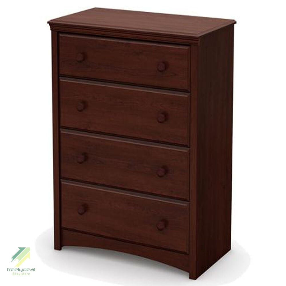 Bedroom Chests Of Drawers: Chest Of Drawers Brown Wood Finish Bedroom Clothes Storage