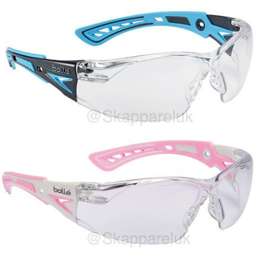 27b738de79d0 Details about BUY 2 X Bolle Rush + Small Safety Glasses Spectacles Pink  Blue Antiscratch