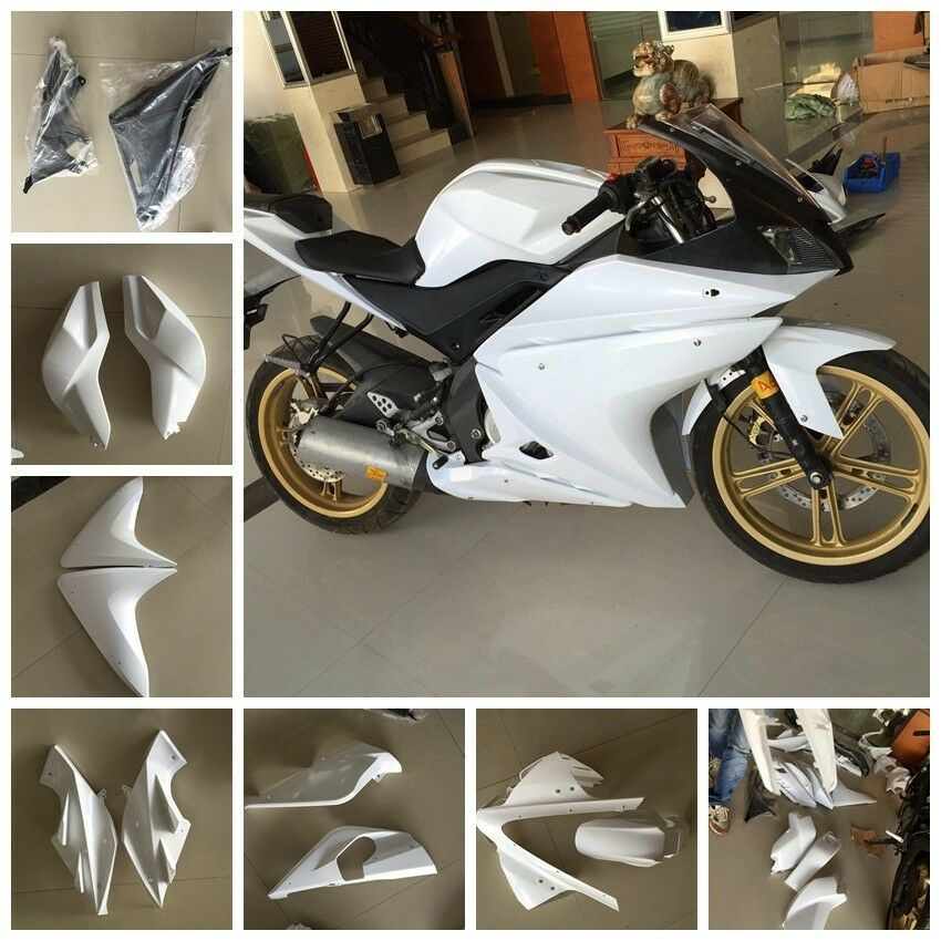 unpainted fairing kit for yamaha yzf r125 2008 2009 2010. Black Bedroom Furniture Sets. Home Design Ideas