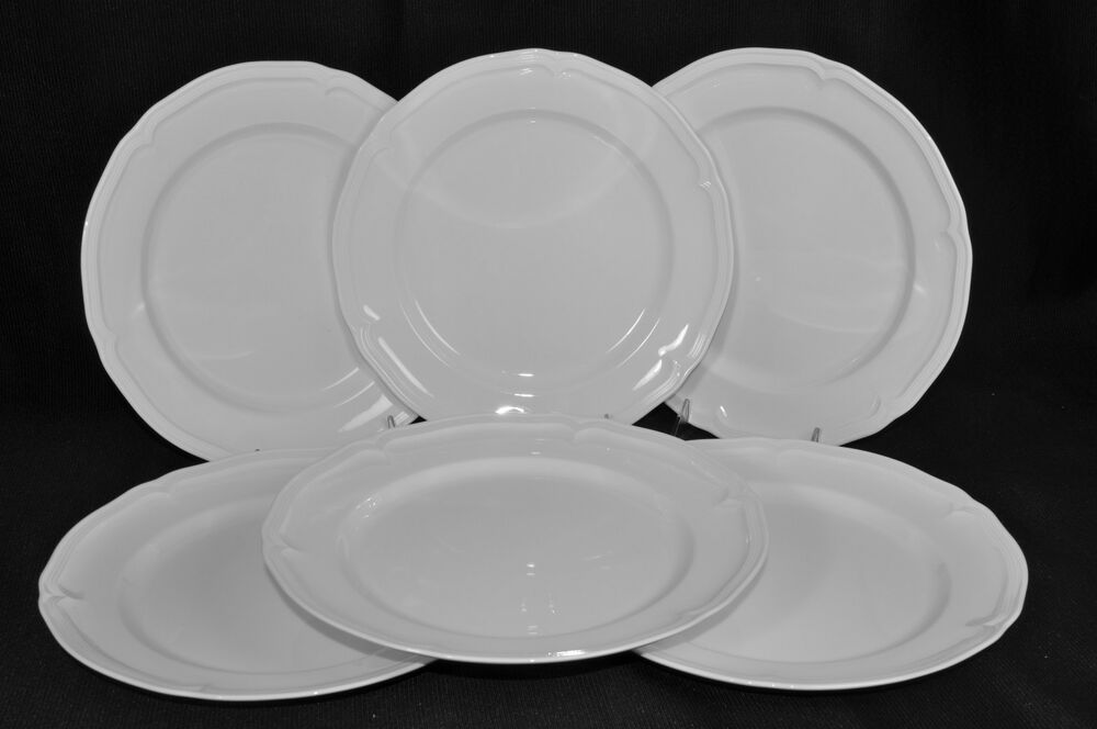VILLEROY BOCH Manor White Dinner Plate Set 6 New EBay