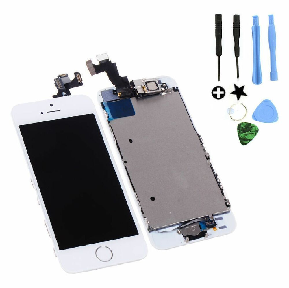 iphone 5s screen repair white lcd assembly lens touch screen digitizer 2216