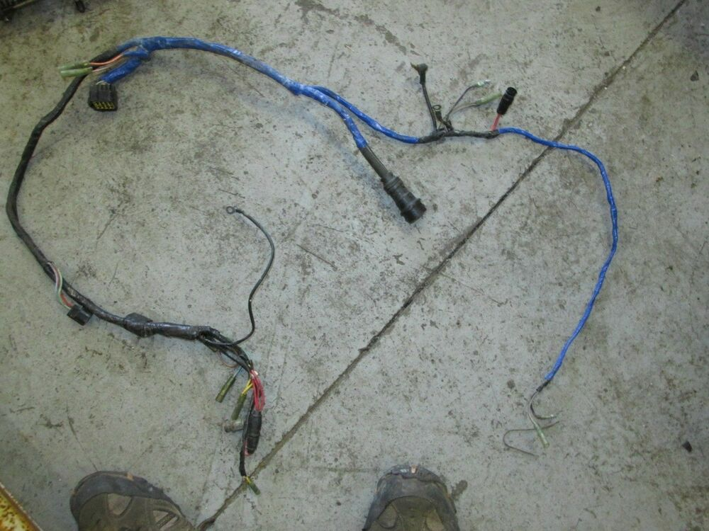 1992 yamaha outboard 225tlrq 225hp 2-stroke wiring harness ... yamaha outboard wiring schematic