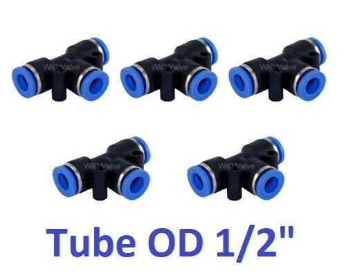 Pneumatic tee union connector tube od quot instant