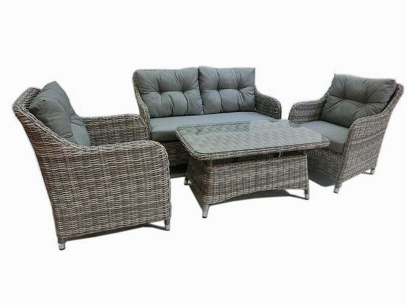 halb rund rattan gartenm bel polyrattan sitzgruppe gartengarnitur lounge sicilia ebay. Black Bedroom Furniture Sets. Home Design Ideas