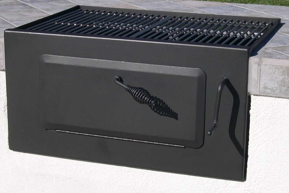 easychef charcoal built in grill 24 front loader grill w ss cooking grids ebay. Black Bedroom Furniture Sets. Home Design Ideas