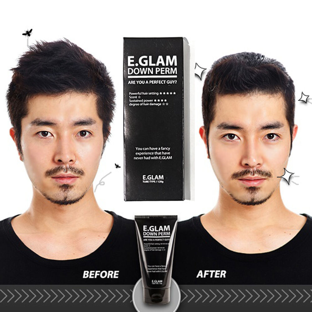 Straight hair perm products - New E Glam Down Perm Kit Men S Side Hair Styling Fast Self Pemanent120g Downperm