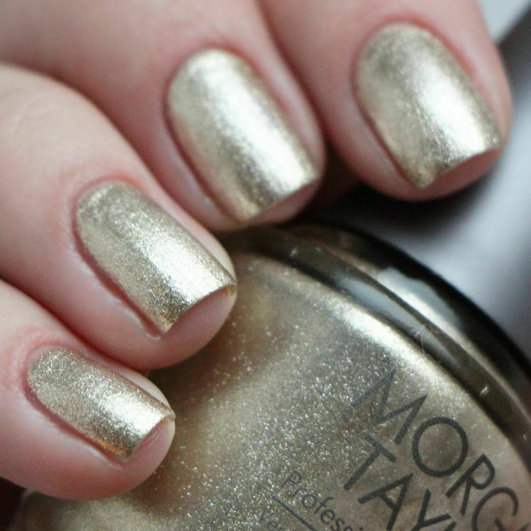 Metallic Gold Nail Polish: Metallic Foil Gold Nail