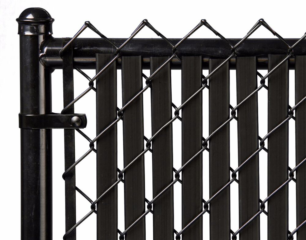 Chain Link Black Double Wall Tube Privacy Slat For 6ft