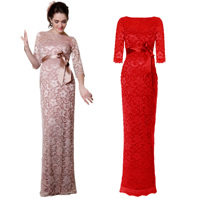 Hot full length dress lace 3 4 sleeves ball gown evenings for 3 4 sleeve ball gown wedding dress