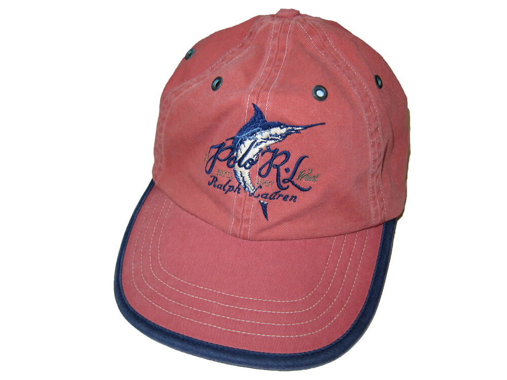 Polo ralph lauren weathered red key west marlin sport for Fishing ball caps