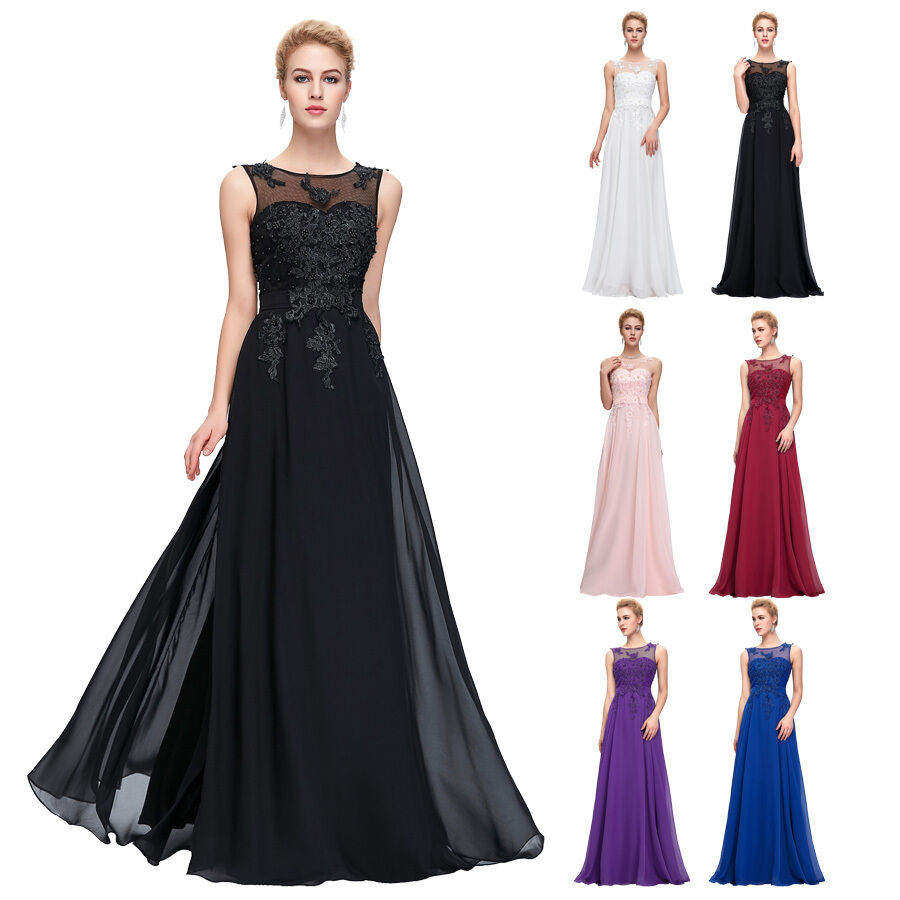 2016 long formal wedding prom bridesmaid gowns evening for Ebay wedding bridesmaid dresses