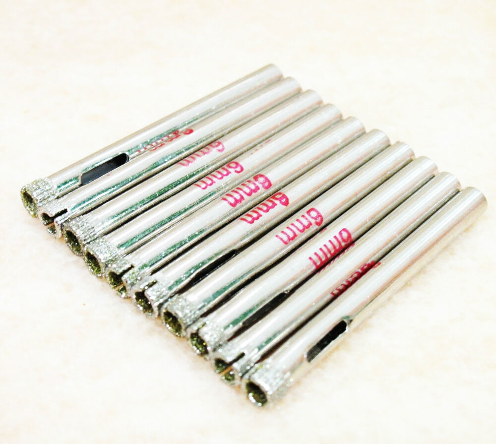 10 Pcs 6mm 1 4 Quot Inch Diamond Coated Core Drill Drills