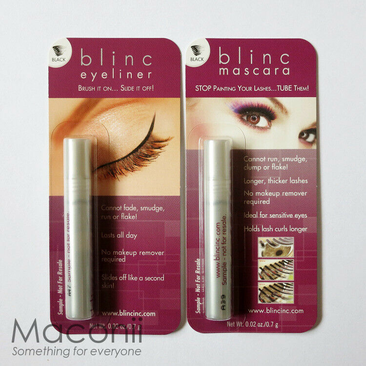 Blinc Mascara and Eyeliner Black Set Duo - Mini Sample Travel Size 0.7g  | eBay
