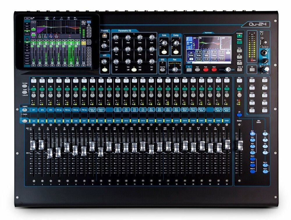 allen heath qu 24 live sound 24 channel digital mixing board console qu 24c 6938122240797 ebay