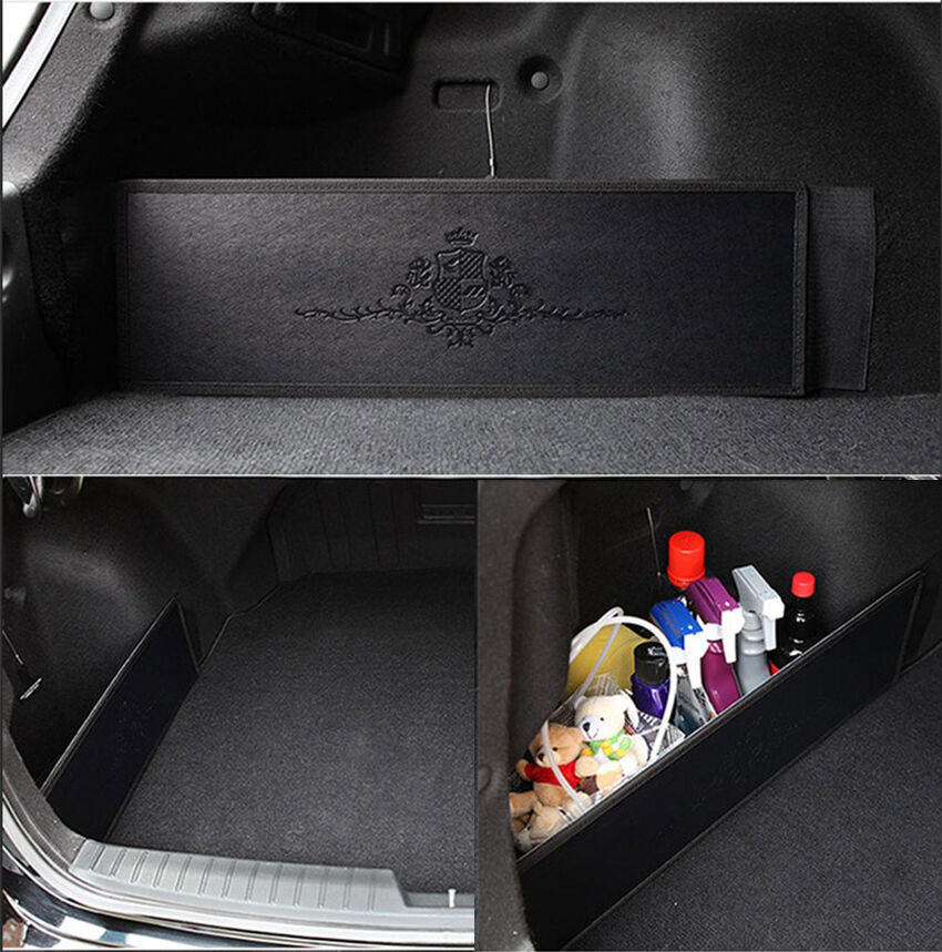 car trunk side organizer storage backseat slim side pocket new korea black ebay. Black Bedroom Furniture Sets. Home Design Ideas