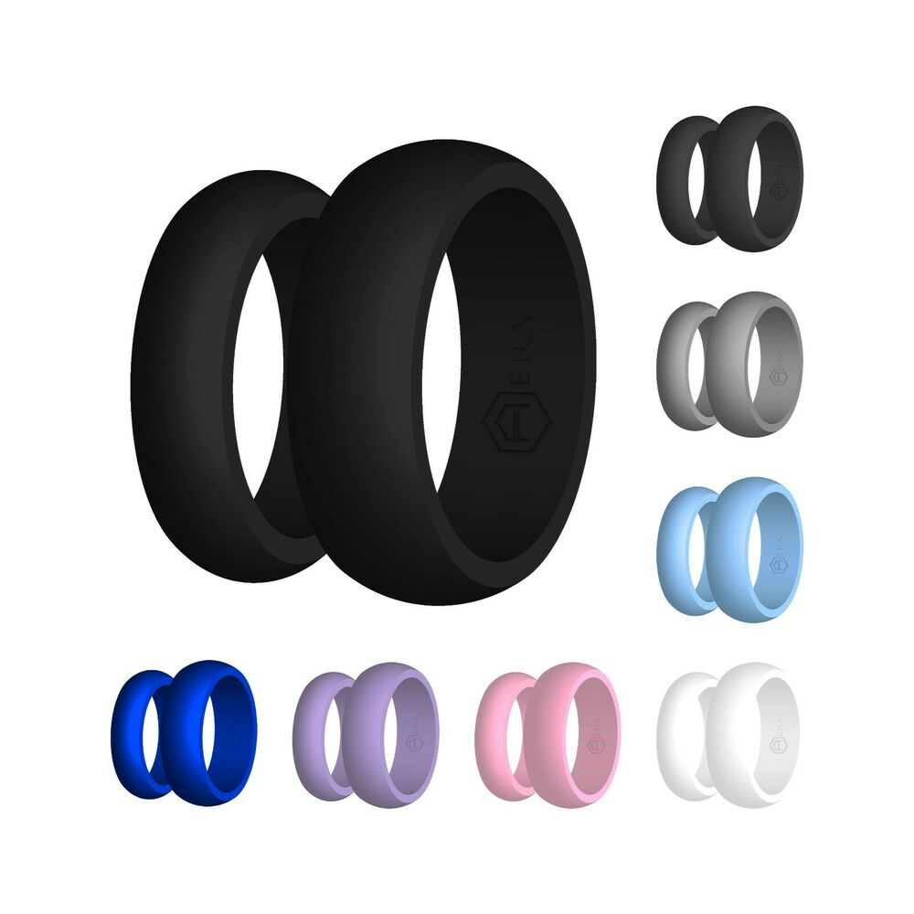 Mens 9MM Rubber Silicone Wedding Band Ring OEM Flexible Hypoallergenic Size 11