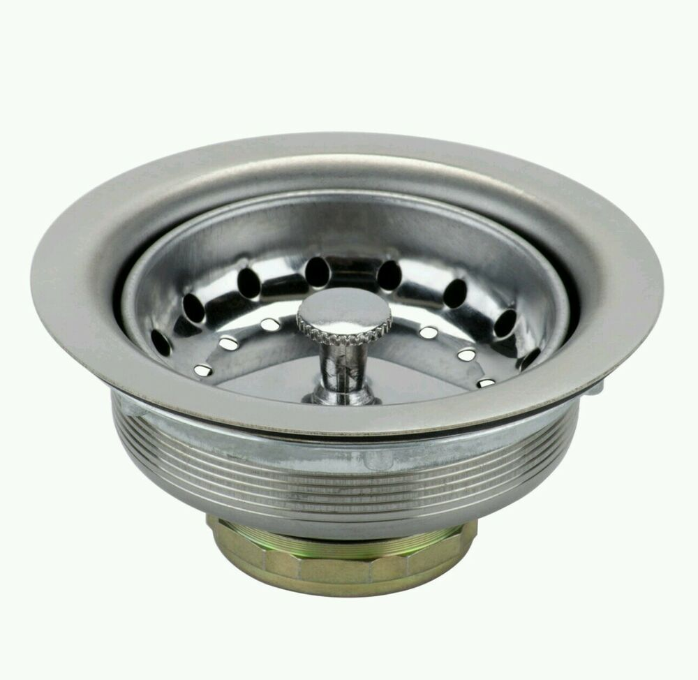Stainless steel kitchen sink drain strainer 3 1 2 to 4 for 3 kitchen sink strainer
