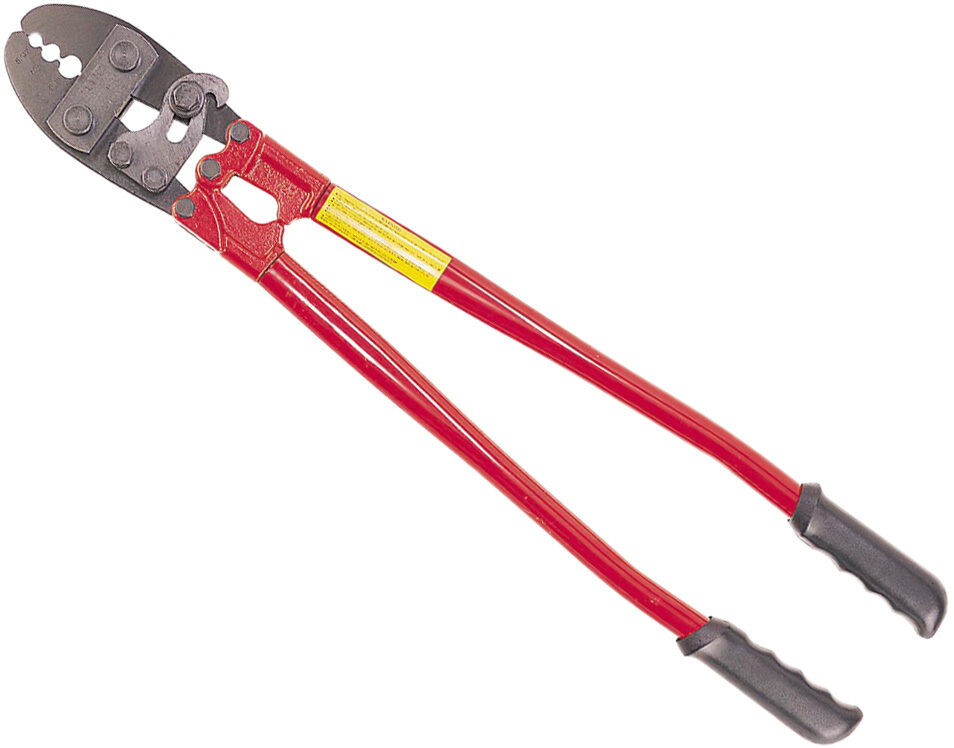 Hand Swager Swaging Crimping Tool W Built In Cable Cutter