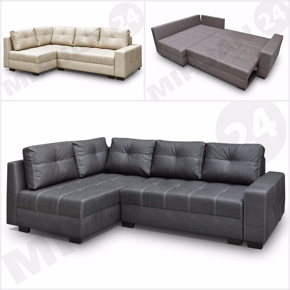 couchgarnitur ecksofa metro modern sofa couch mit bettkasten ebay. Black Bedroom Furniture Sets. Home Design Ideas