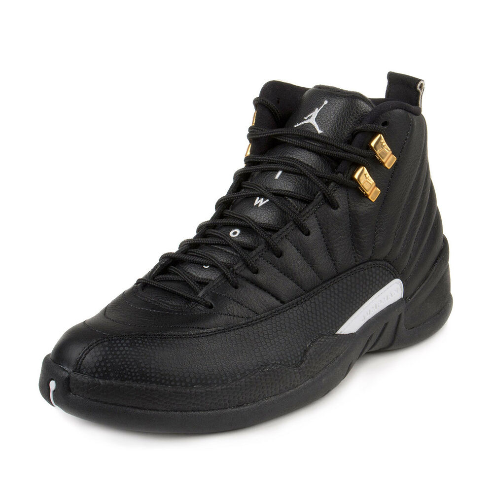 Mens White With Black And Gold Athletic Shoes
