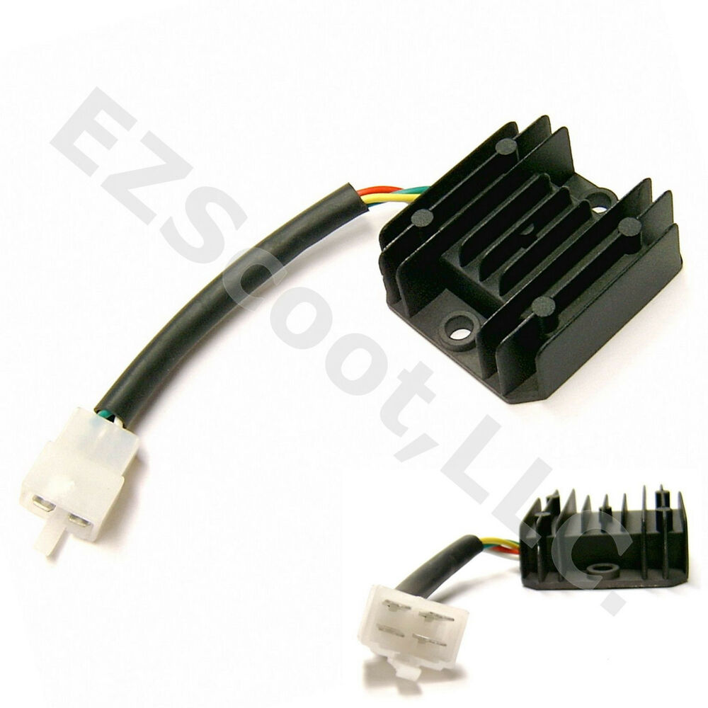 oem voltage regulator rectifier 12v 4pin 50 150cc gy6. Black Bedroom Furniture Sets. Home Design Ideas