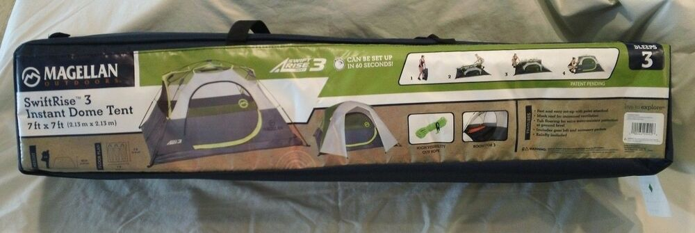Magellan Outdoors Swiftrise 3 Instant Dome Tent Sets Up In