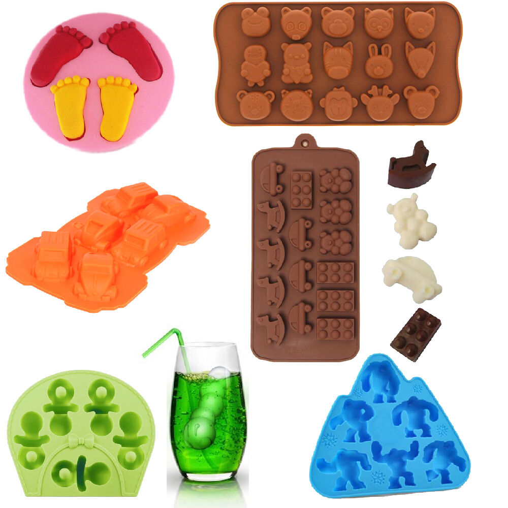 mold baby shower chocolate ice cube tray molds diy soap jello candy