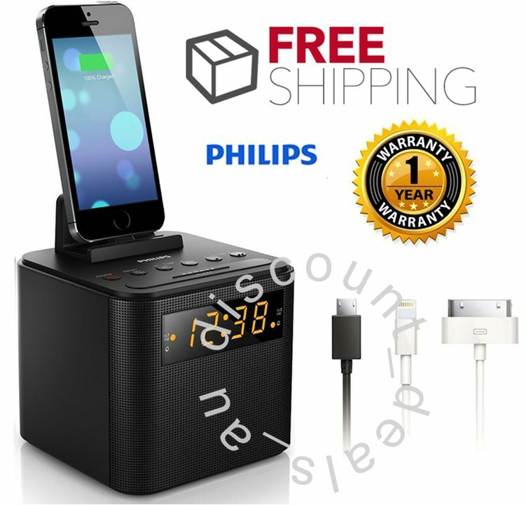 digital clock radio fm ipod iphone android charger dock docking station alarm ebay. Black Bedroom Furniture Sets. Home Design Ideas