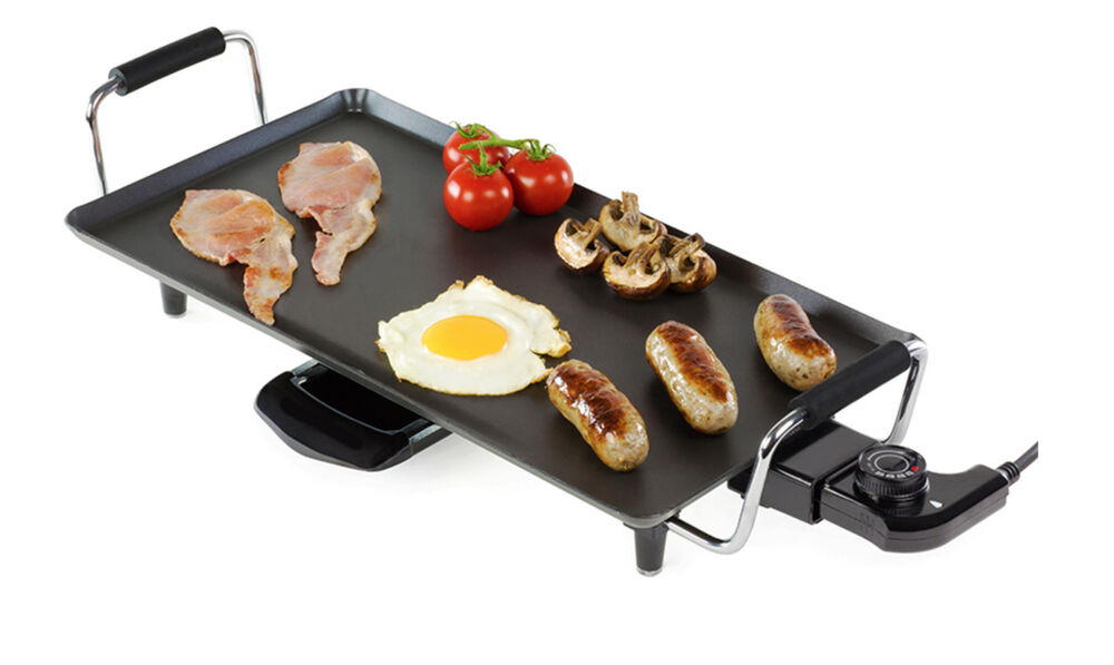 Teppanyaki Electric Kitchen Grill Pan Tray Griddle