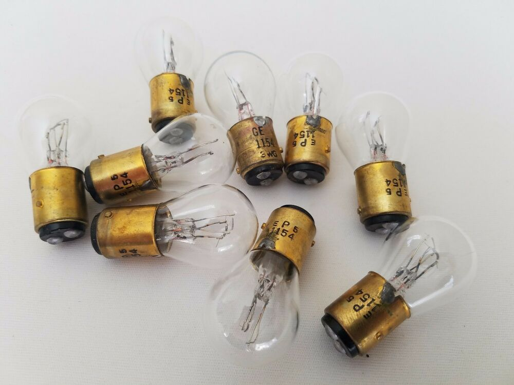 Lot Of 9 Ge Generic Ep5 1154 Ge1154 Miniature Automotive Lamps Light Bulbs Ebay