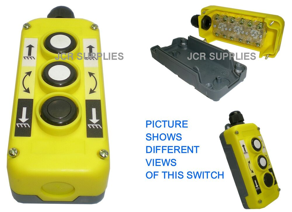 3 Button Tail Lift  Winch Up  Down Tilt Control Switch