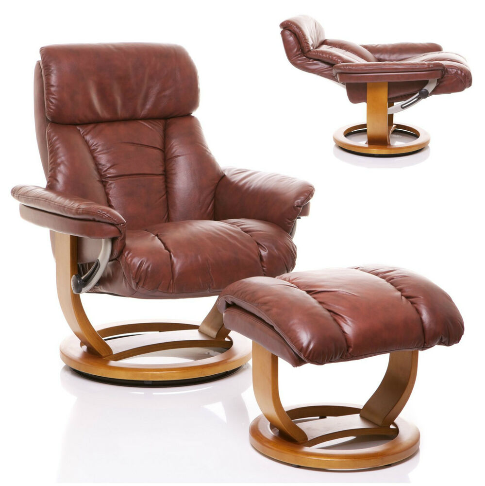 The Mars Genuine Leather Recliner Swivel Chair