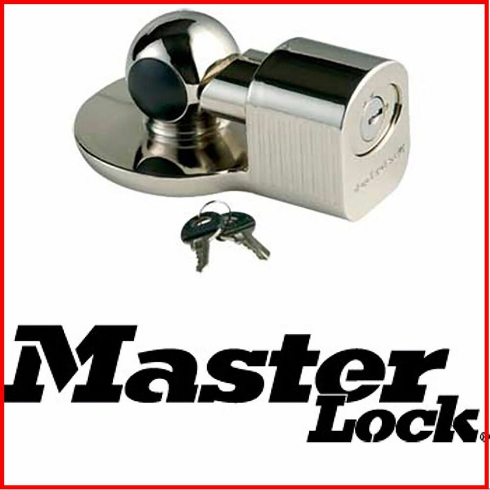 Master Lock Coupler Lock Trailer Universal Hitch Ball
