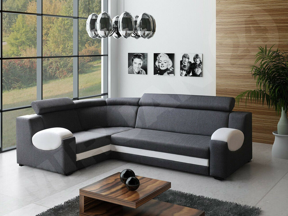 ecksofa eckcouch santana bettsofa sofa sofagarnitur polsterecke schlafsofa ebay. Black Bedroom Furniture Sets. Home Design Ideas
