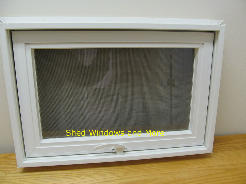 Awing window 24 x 16 vinyl pvc insulated glass tiny for Vinyl insulated windows