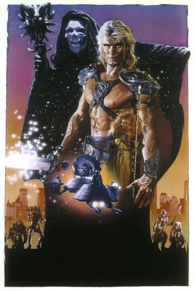 masters of the universe silk fabric movie poster 1987 he