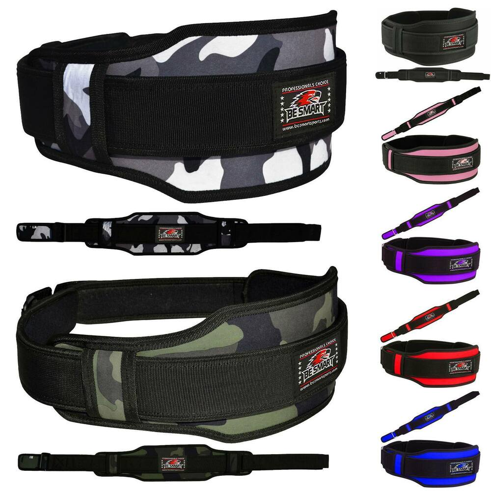 Neoprene Weight Lift Training Workout Gym Palm Exercise: Weight Lifting Belt Neoperene Gym Fitness Workout Double